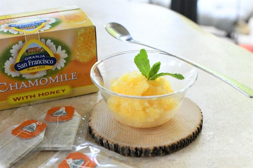 オレンジはちみつカモミールティーのソルベ