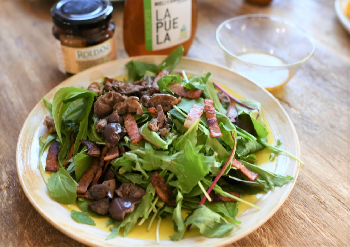 ユーカリ蜂蜜レモンドレッシングのオリーブサラダ