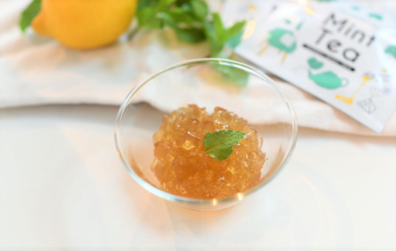 ハチミツミントティーとレモンのクラッシュゼリー