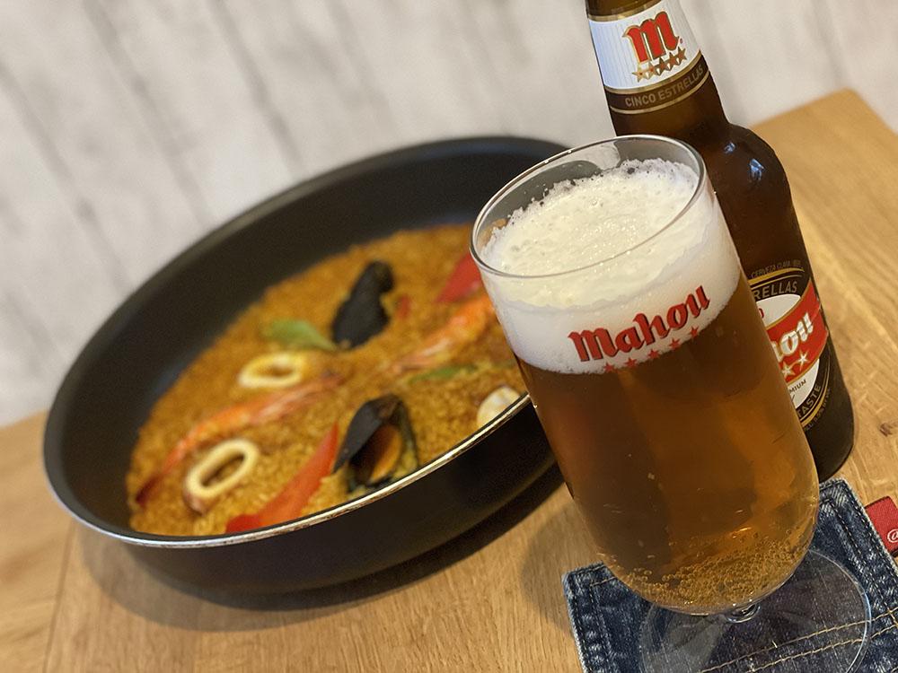 おウチでスペインビール『マオウ』とパエリア専門店の味!