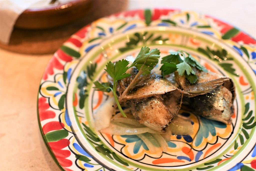 鰯と黒オリーブのオーブン焼き