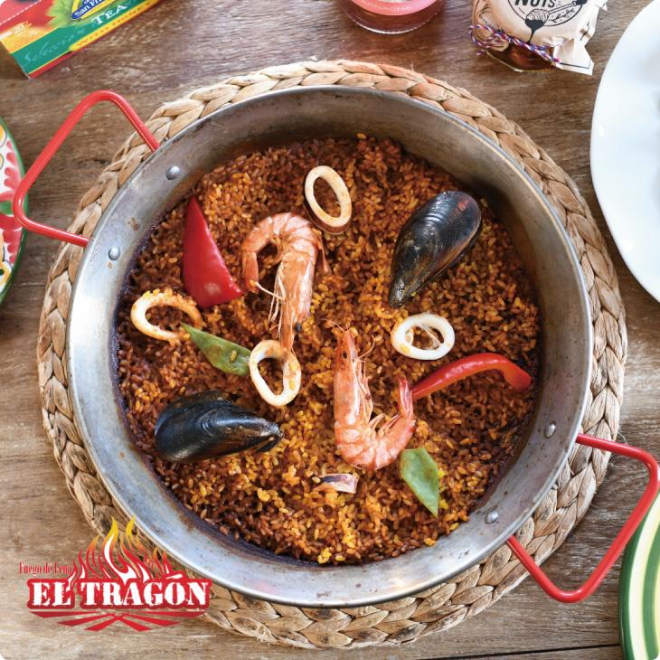 本場バレンシアスタイルのパエリアのご紹介「魚介のパエリア」