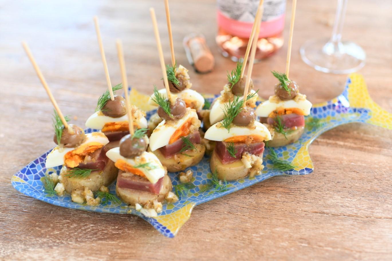 炙りマグロとジャガイモのバスク風ピンチョス