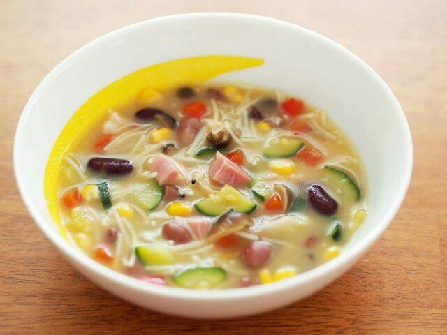 お魚だしのあったかヘルシースープ
